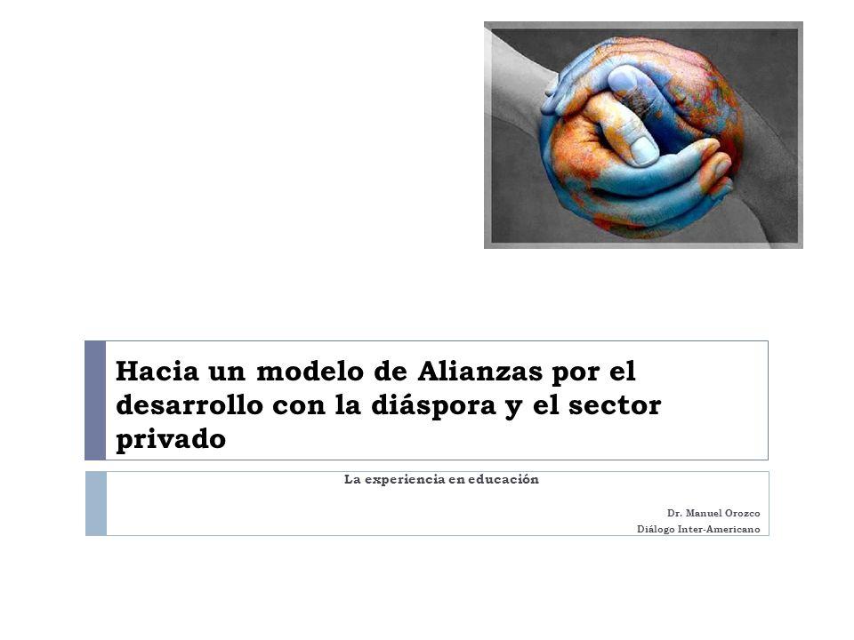 La experiencia en educación Dr. Manuel Orozco Diálogo Inter-Americano