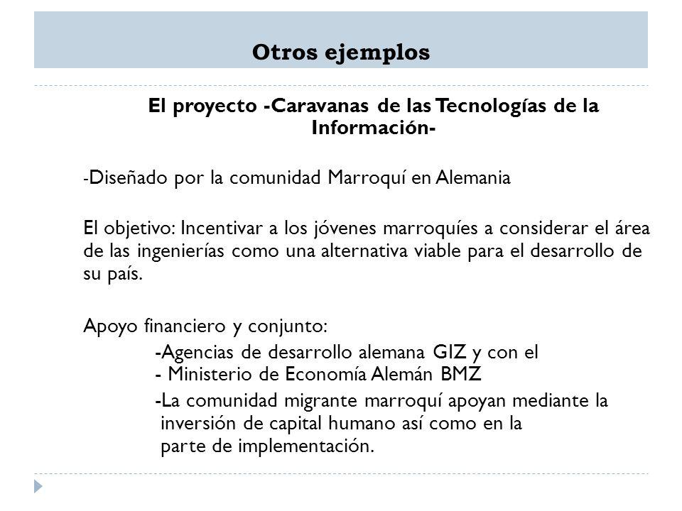 El proyecto -Caravanas de las Tecnologías de la Información-