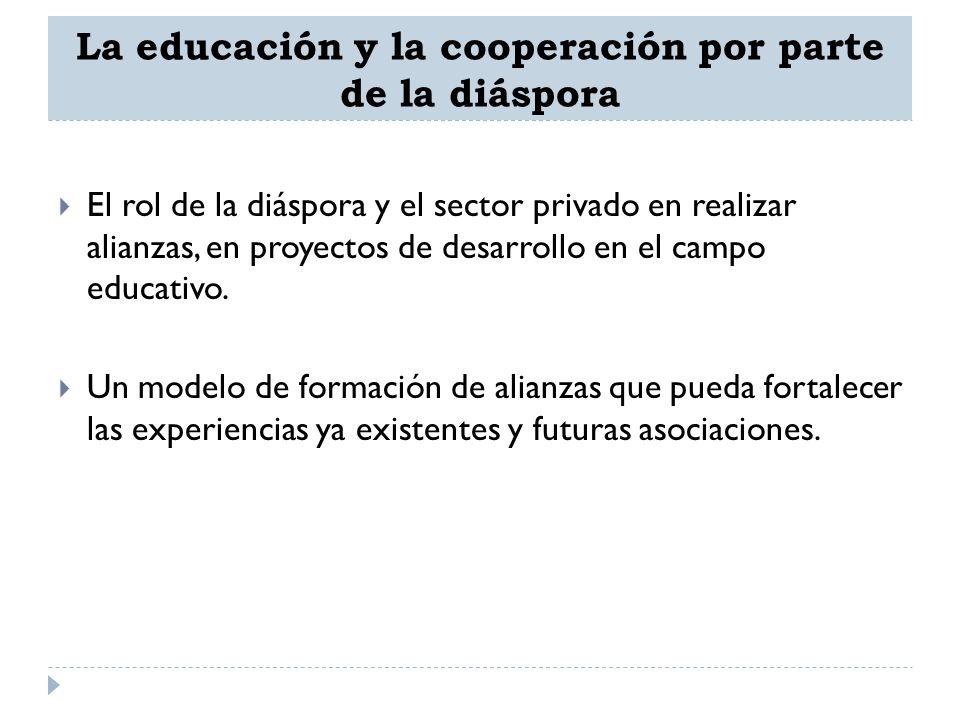 La educación y la cooperación por parte de la diáspora