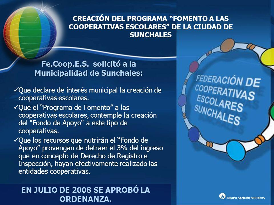 Municipalidad de Sunchales: EN JULIO DE 2008 SE APROBÓ LA ORDENANZA.