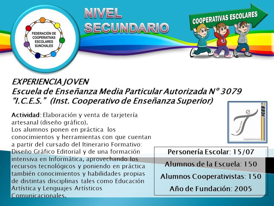 Alumnos Cooperativistas: 150