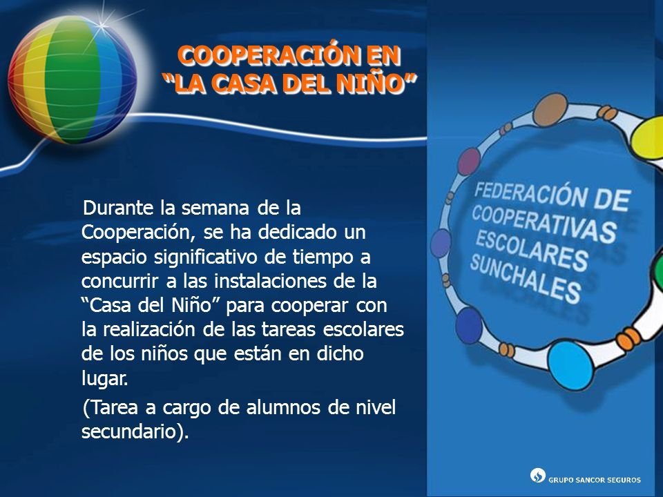 COOPERACIÓN EN LA CASA DEL NIÑO