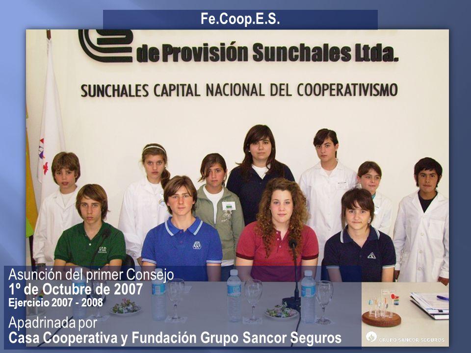 Asunción del primer Consejo 1º de Octubre de 2007 Apadrinada por