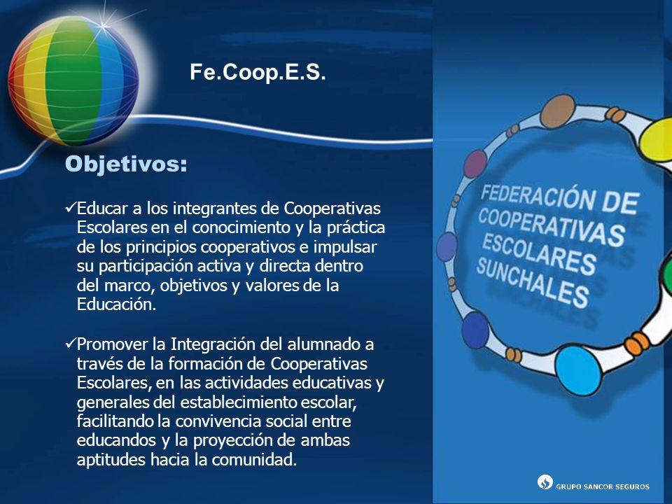Fe.Coop.E.S. Objetivos: