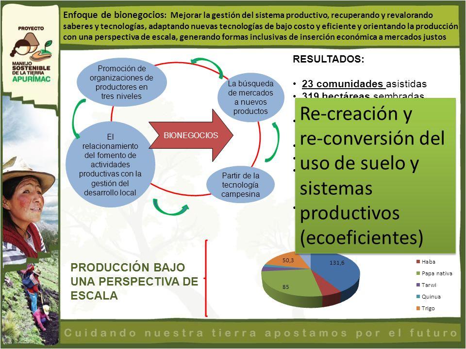 re-conversión del uso de suelo y sistemas productivos (ecoeficientes)