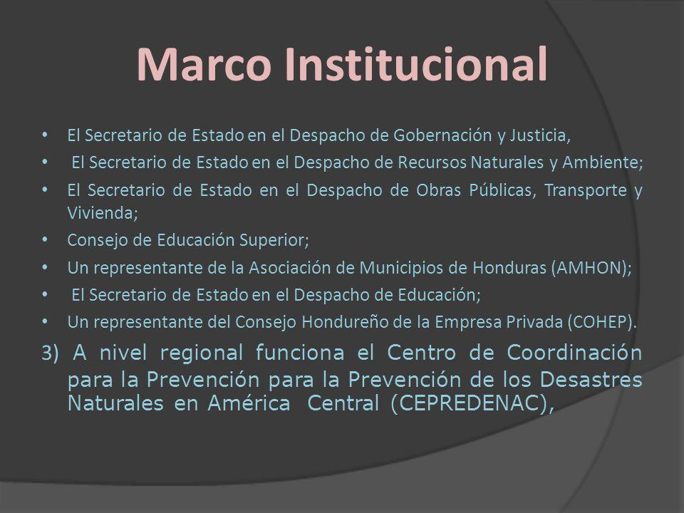 Marco Institucional El Secretario de Estado en el Despacho de Gobernación y Justicia,