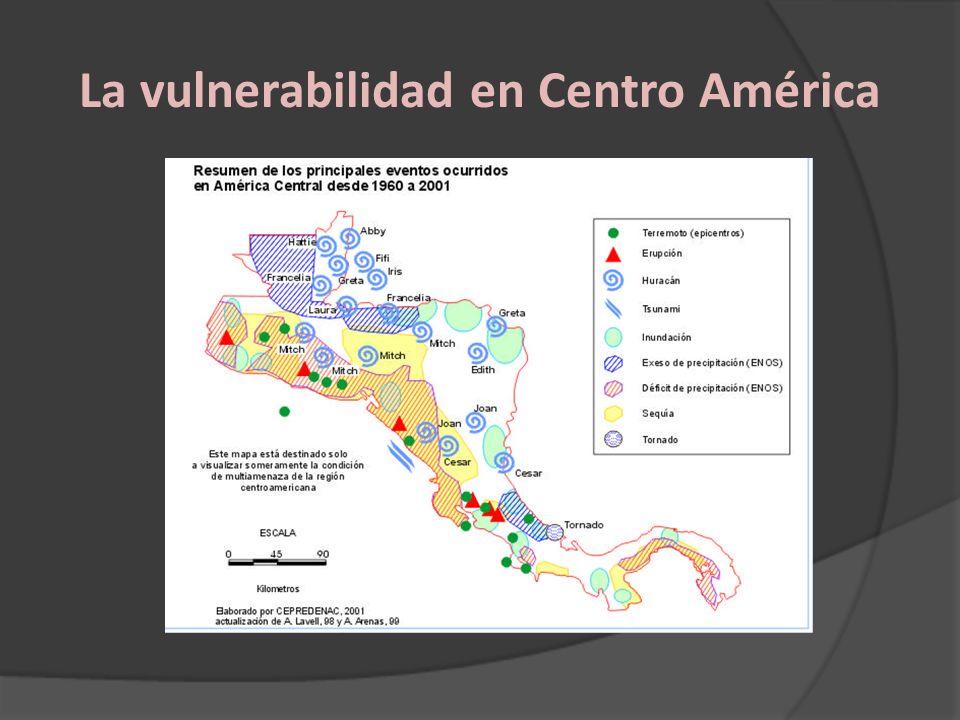 La vulnerabilidad en Centro América