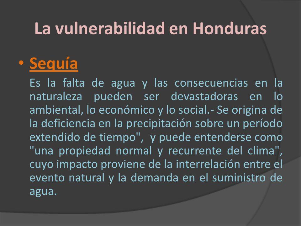 La vulnerabilidad en Honduras