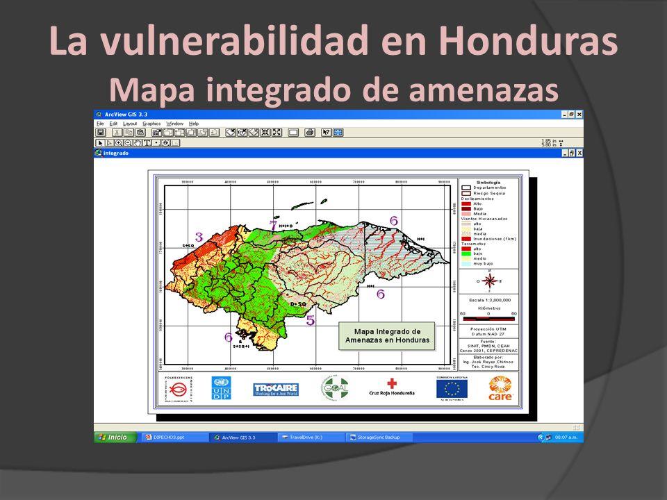 La vulnerabilidad en Honduras Mapa integrado de amenazas