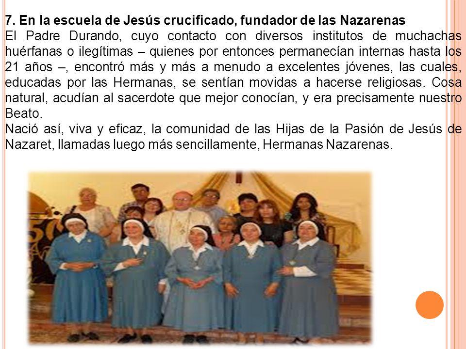 7. En la escuela de Jesús crucificado, fundador de las Nazarenas