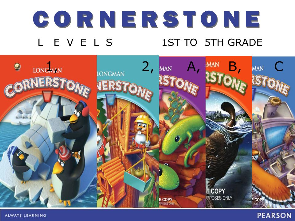 CORNERSTONE L E V E L S 1ST TO 5TH GRADE.