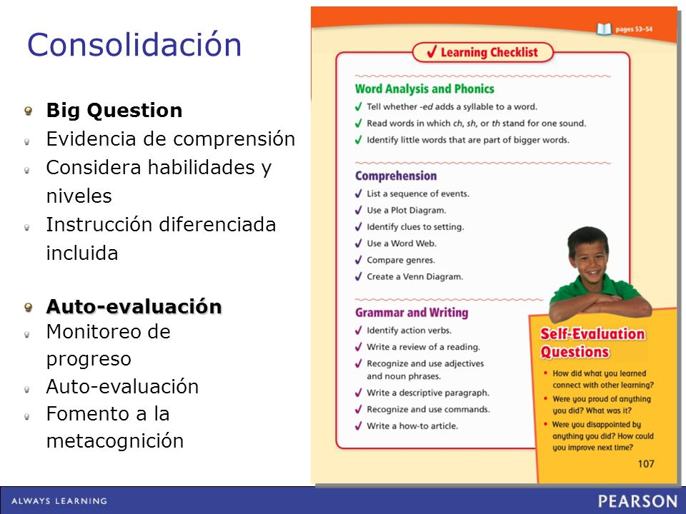 Consolidación Big Question Evidencia de comprensión
