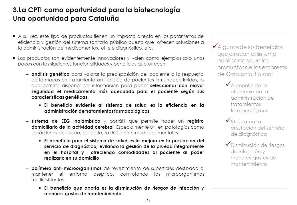 4.La CPTI en Cataluña Situación actual en Cataluña