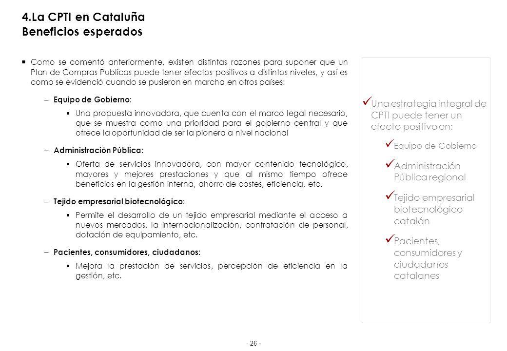 5.Implementación de la CPTI en Cataluña Propuesta de Hoja de Ruta 2011