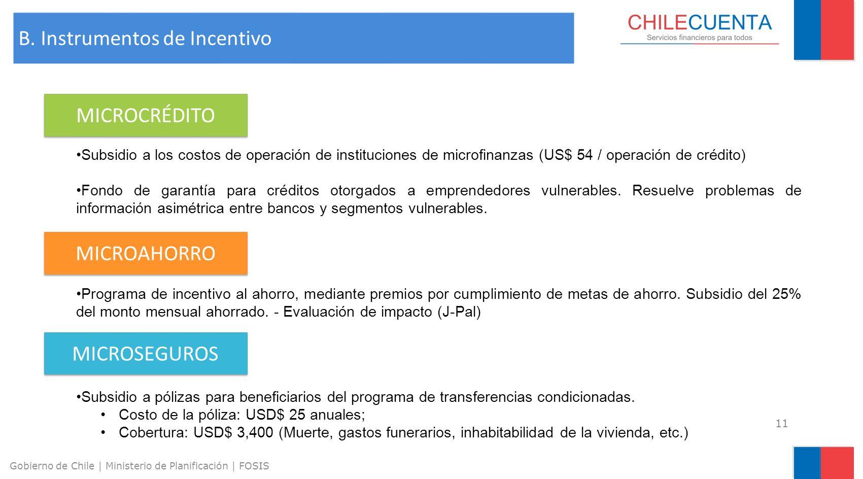 B. Instrumentos de Incentivo