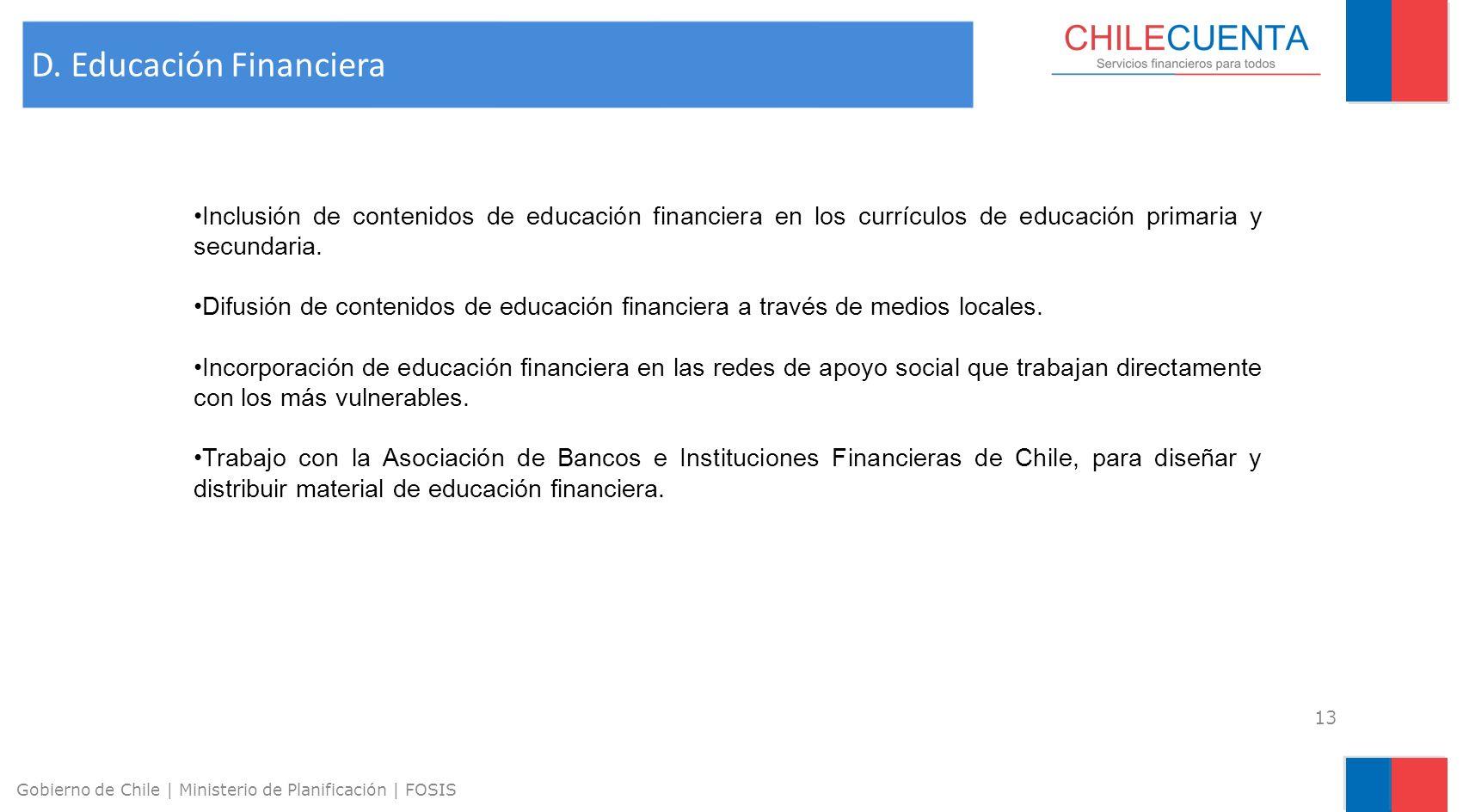 D. Educación Financiera