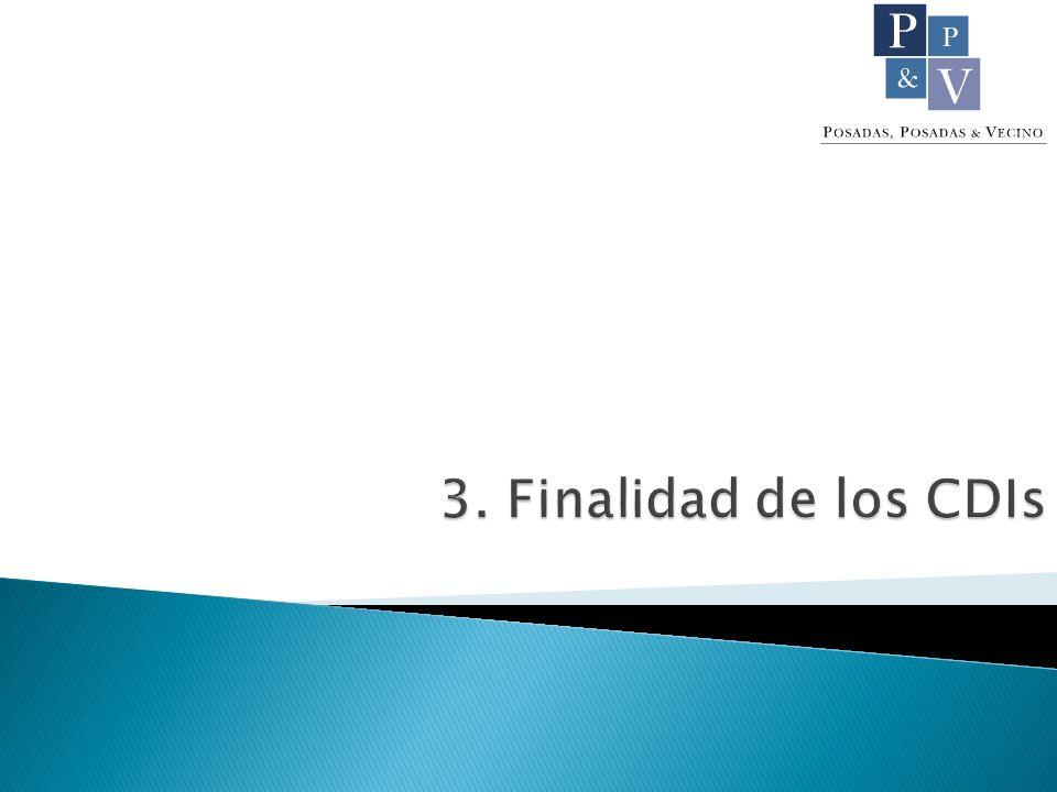 3. Finalidad de los CDIs