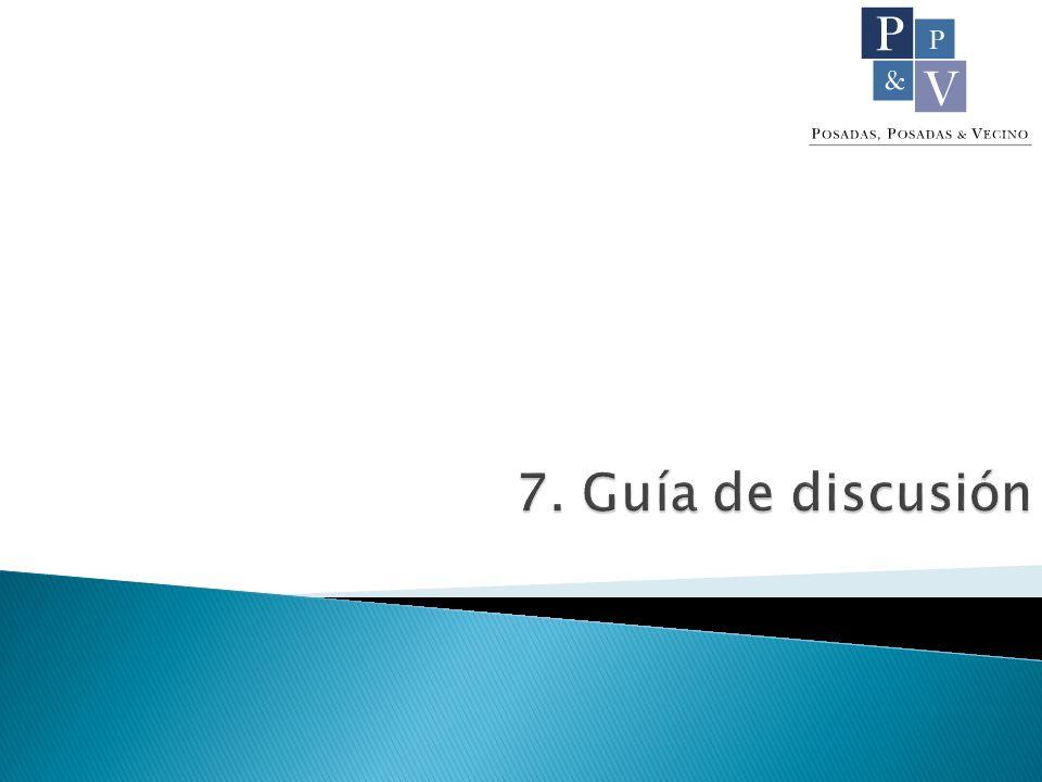 7. Guía de discusión