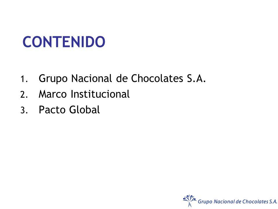 Grupo Nacional de Chocolates S.A. Marco Institucional Pacto Global