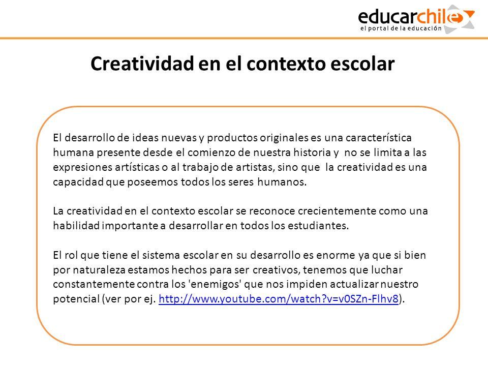Creatividad en el contexto escolar