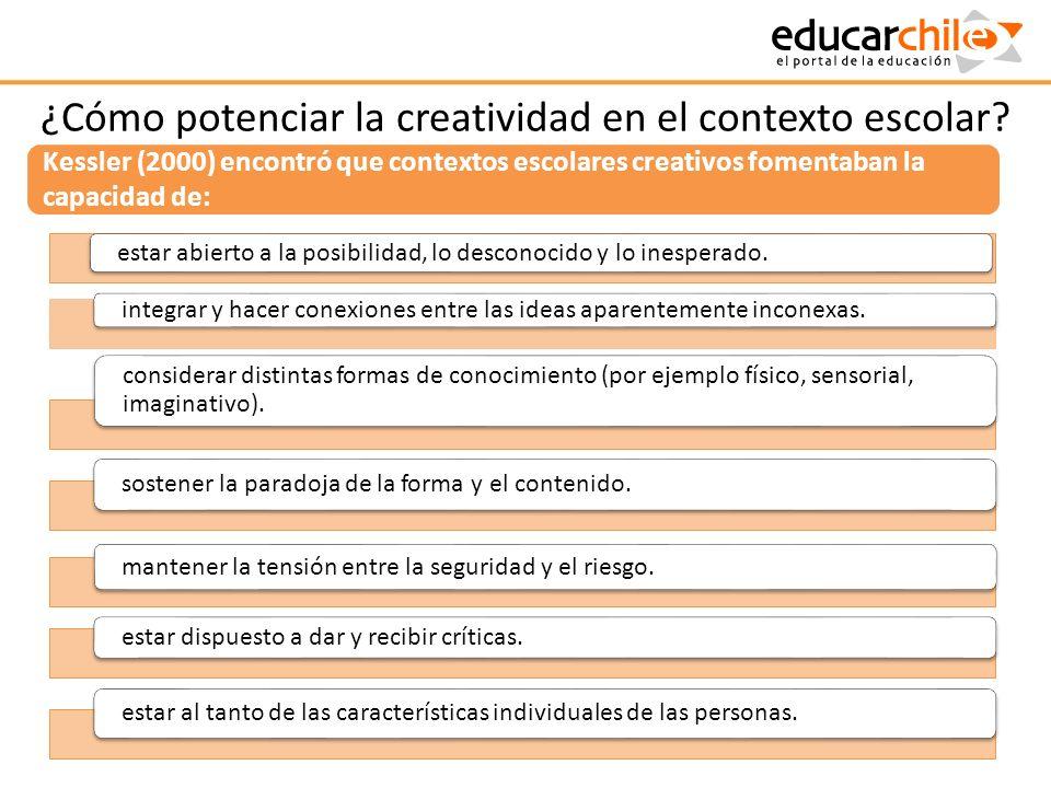 ¿Cómo potenciar la creatividad en el contexto escolar