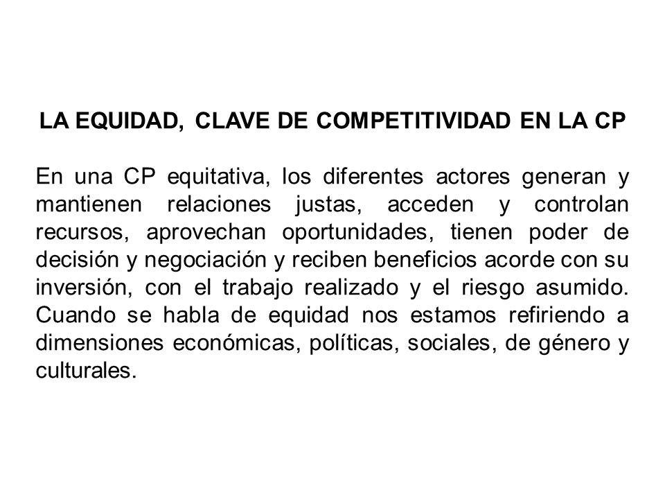 LA EQUIDAD, CLAVE DE COMPETITIVIDAD EN LA CP