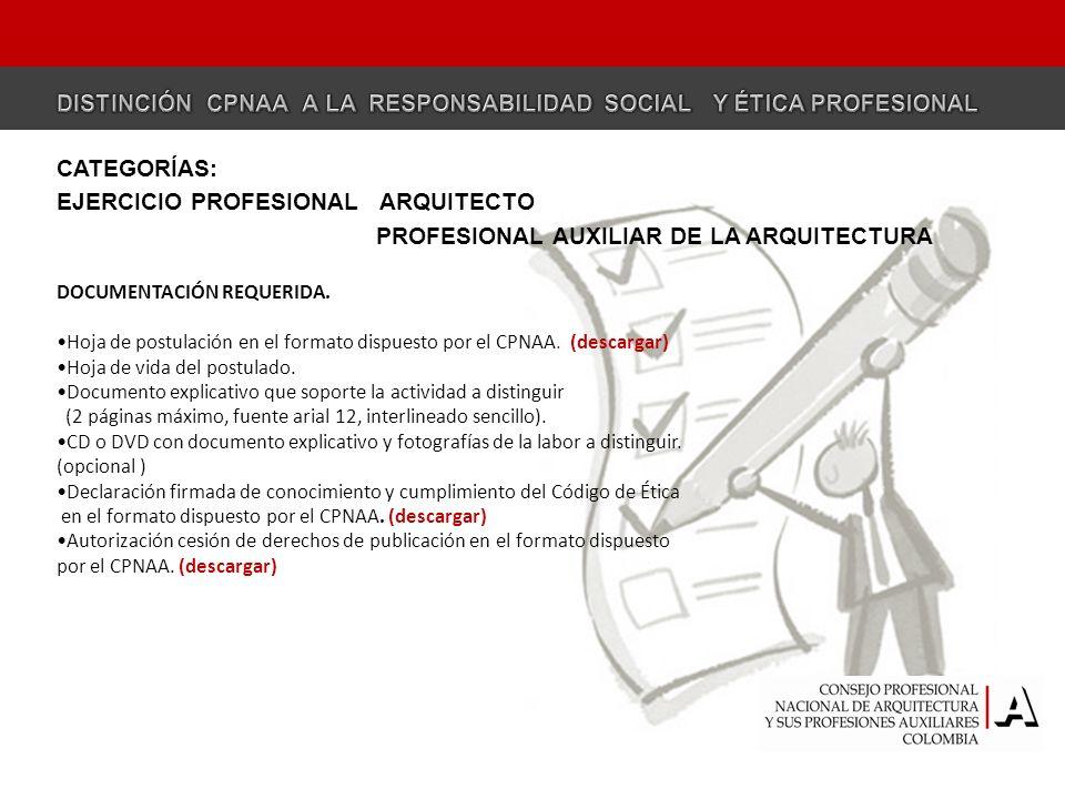 EJERCICIO PROFESIONAL ARQUITECTO