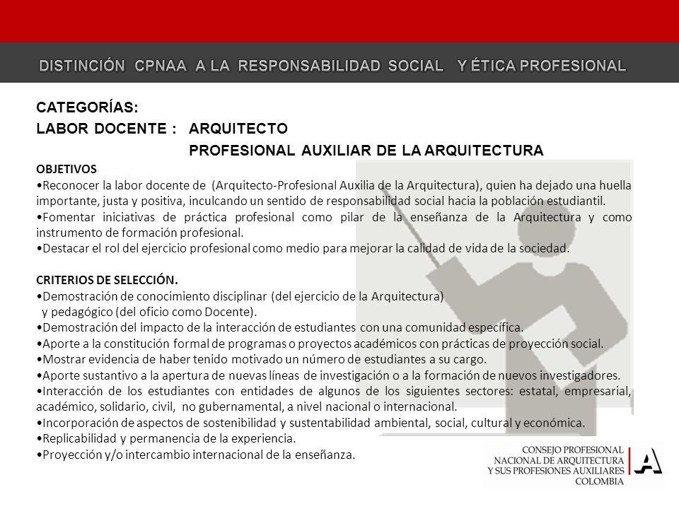 DISTINCIÓN CPNAA A LA RESPONSABILIDAD SOCIAL Y ÉTICA PROFESIONAL