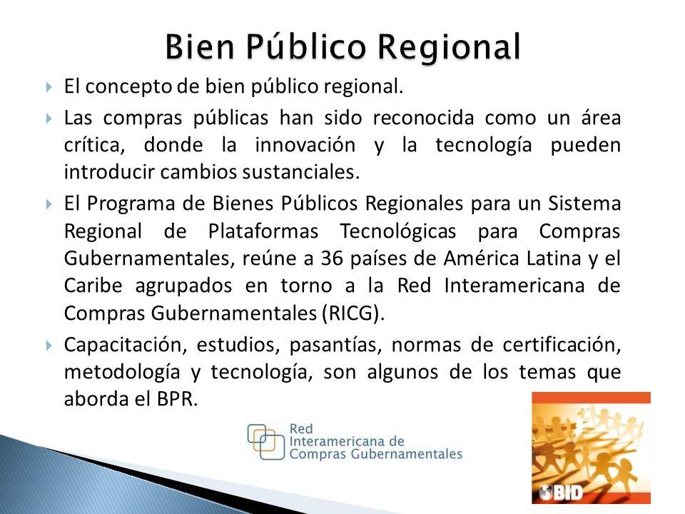 Bien Público Regional El concepto de bien público regional.