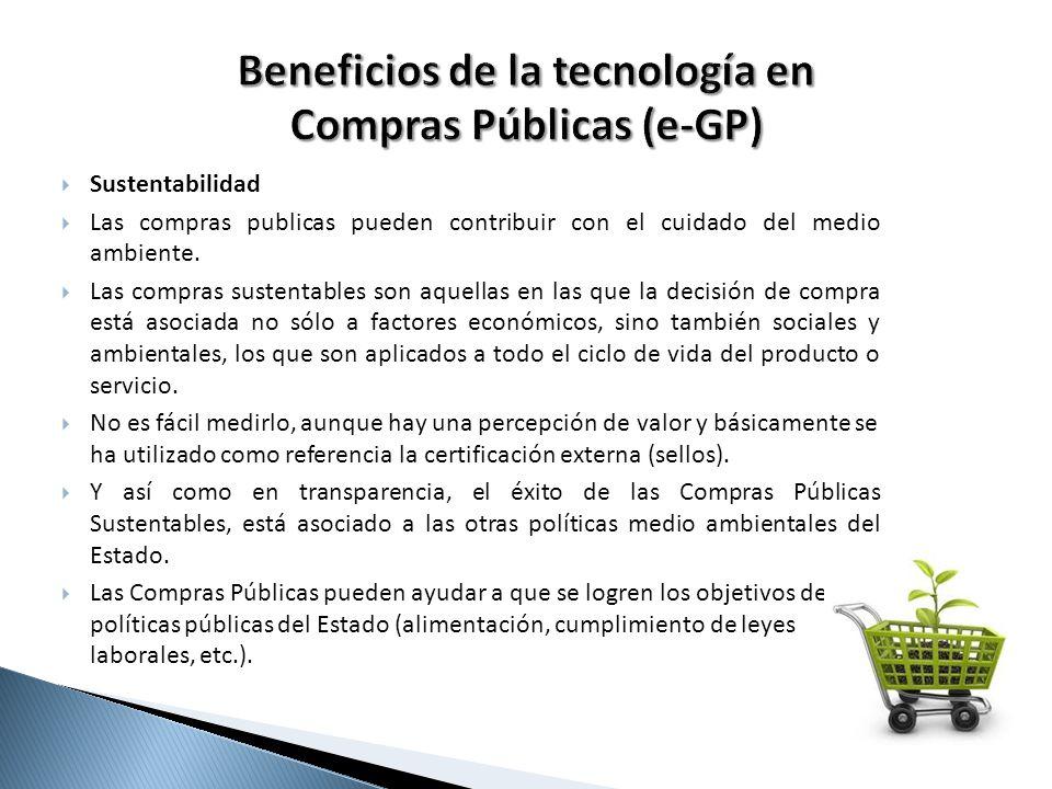 Beneficios de la tecnología en Compras Públicas (e-GP)