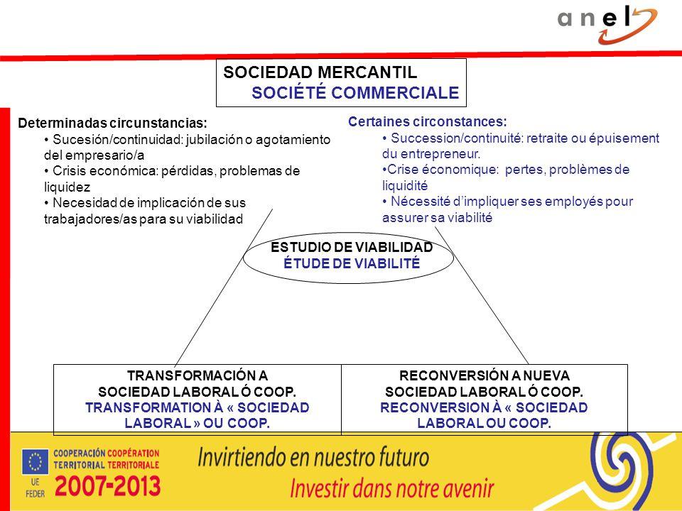 SOCIEDAD MERCANTIL SOCIÉTÉ COMMERCIALE Determinadas circunstancias: