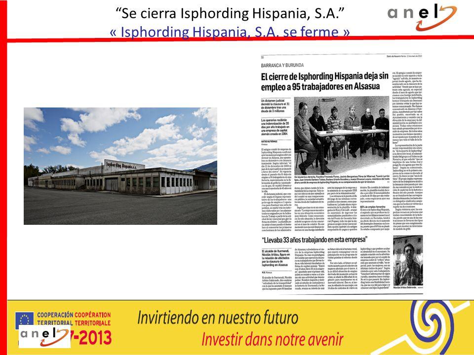 Se cierra Isphording Hispania, S. A. « Isphording Hispania, S. A