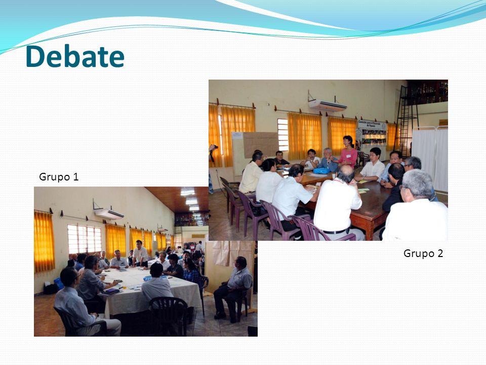 Debate Grupo 1 Grupo 2