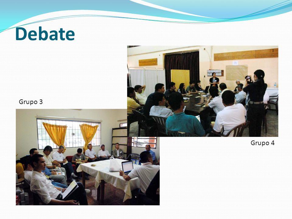 Debate Grupo 3 Grupo 4