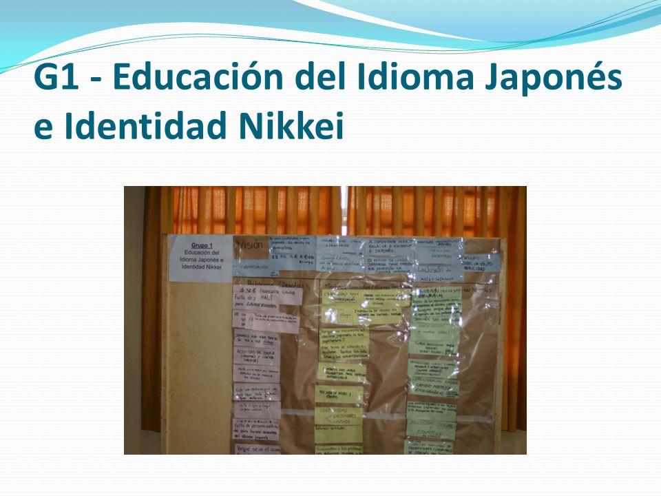 G1 - Educación del Idioma Japonés e Identidad Nikkei
