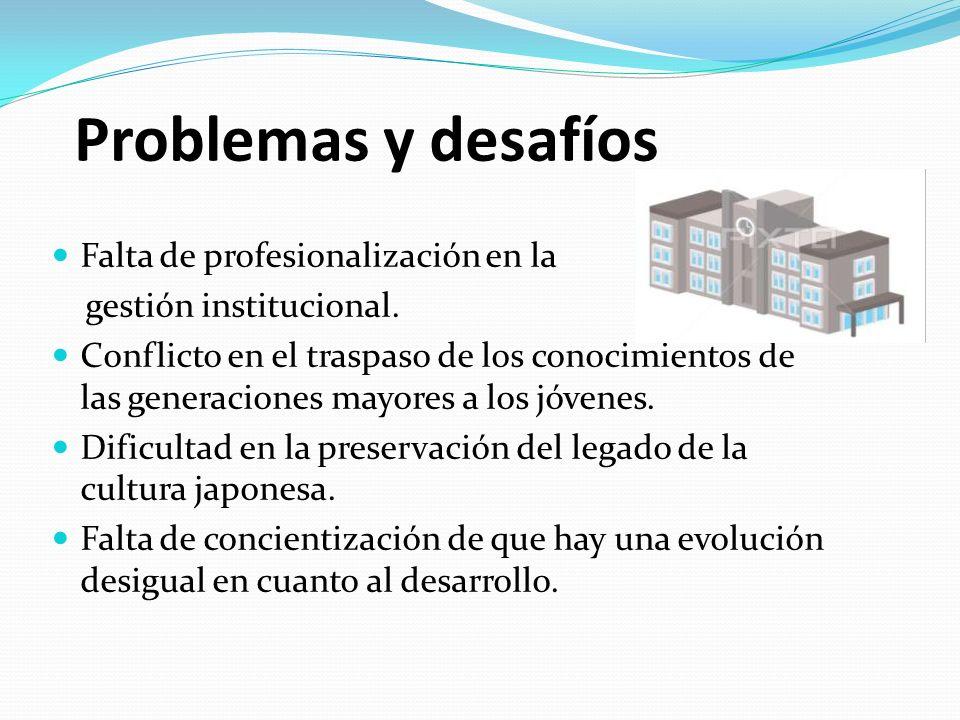 Problemas y desafíos Falta de profesionalización en la