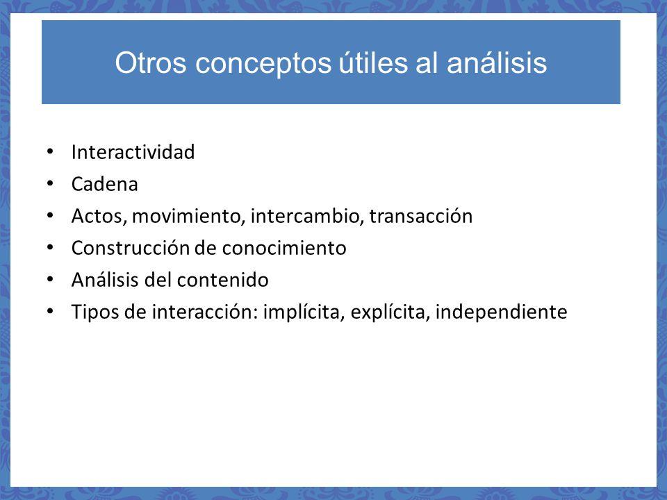 Otros conceptos útiles al análisis