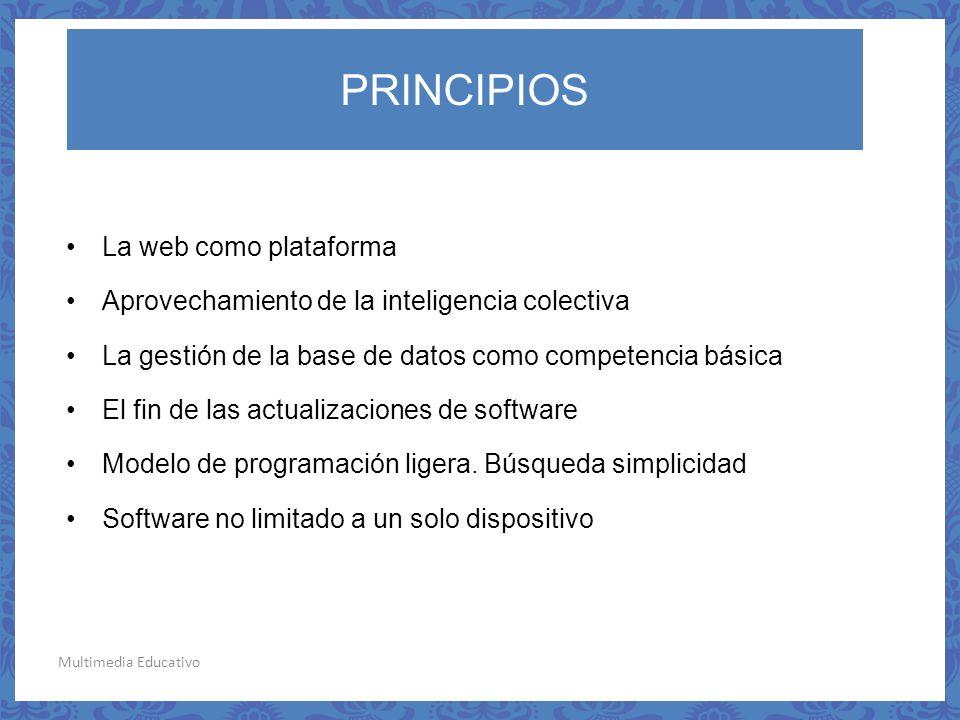 PRINCIPIOS La web como plataforma