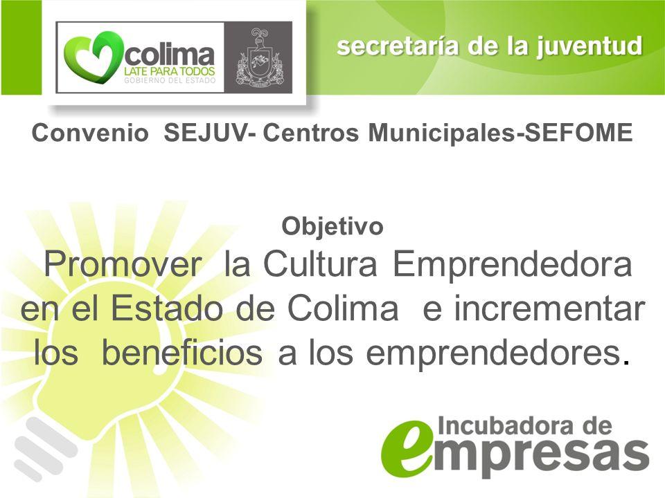 Convenio SEJUV- Centros Municipales-SEFOME