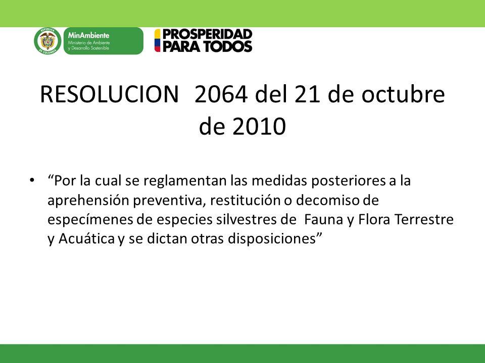RESOLUCION 2064 del 21 de octubre de 2010