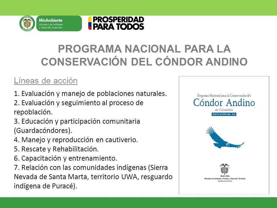 PROGRAMA NACIONAL PARA LA CONSERVACIÓN DEL CÓNDOR ANDINO