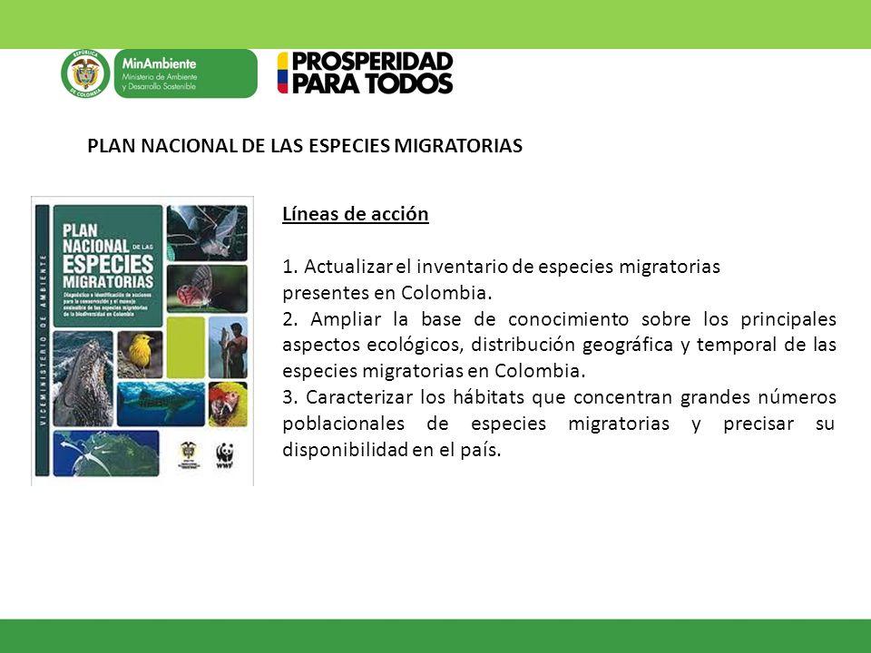 PLAN NACIONAL DE LAS ESPECIES MIGRATORIAS