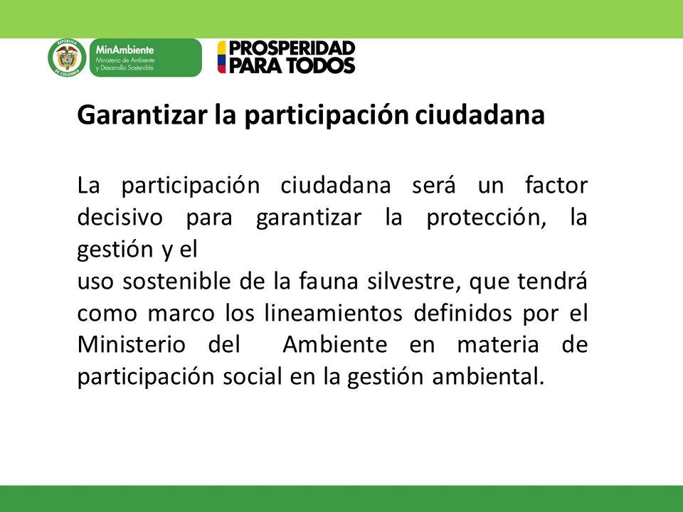 Garantizar la participación ciudadana