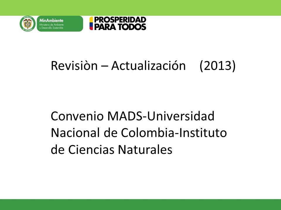 Revisiòn – Actualización (2013)