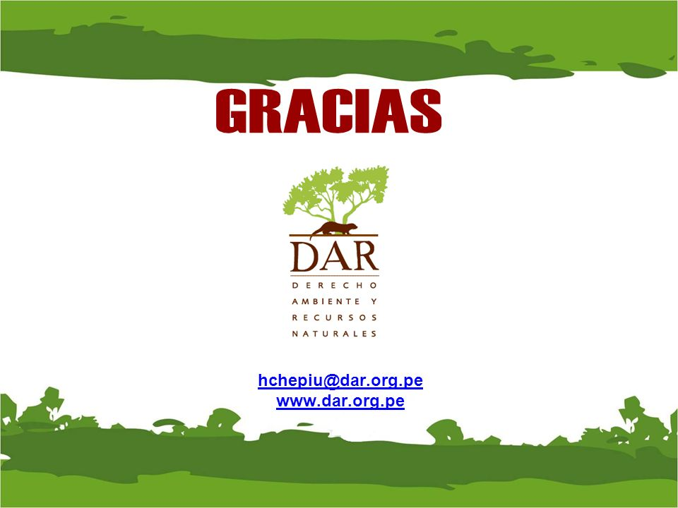 GRACIAS hchepiu@dar.org.pe www.dar.org.pe