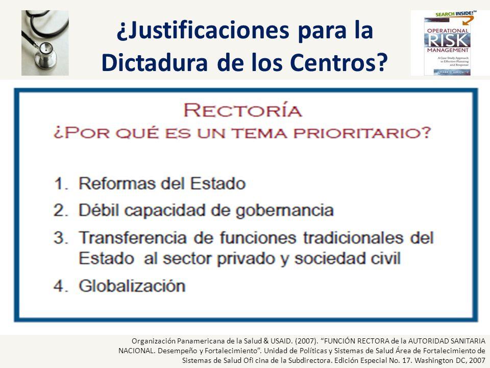 ¿Justificaciones para la Dictadura de los Centros