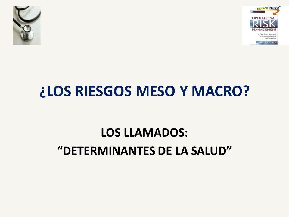 ¿LOS RIESGOS MESO Y MACRO