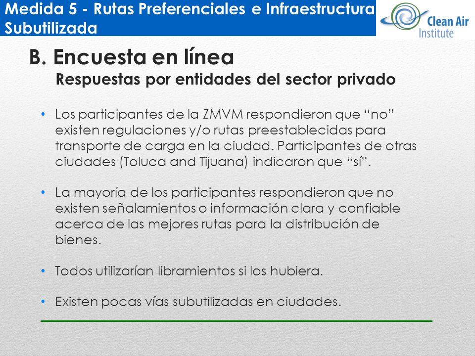 Medida 5 - Rutas Preferenciales e Infraestructura Subutilizada