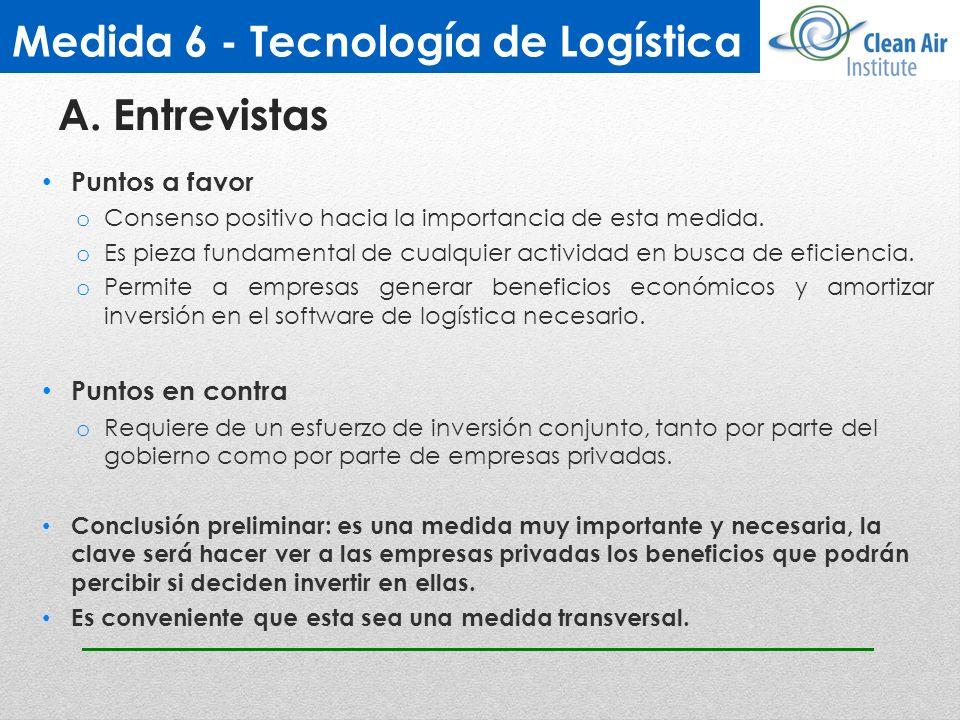 Medida 6 - Tecnología de Logística