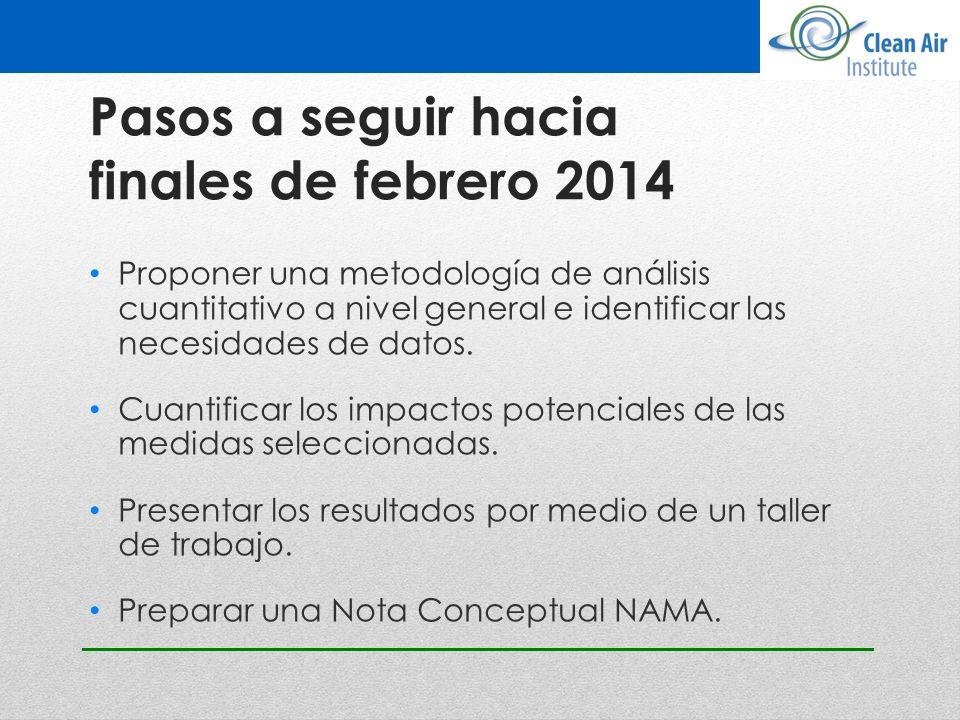 Pasos a seguir hacia finales de febrero 2014